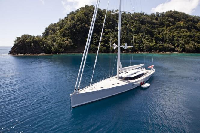 Sailing yacht Zefira At Anchor