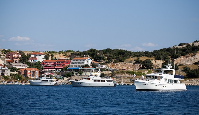 Selene yachts in the popular summer yacht charter location - Croatia