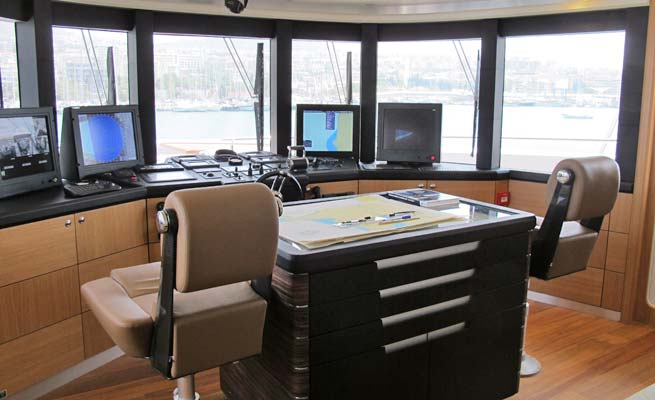 Superyacht Quaranta - Wheelhouse