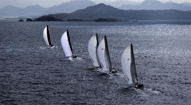 The 12-strong mini maxi fleet - Photo by Rolex/Carlo Borlenghi