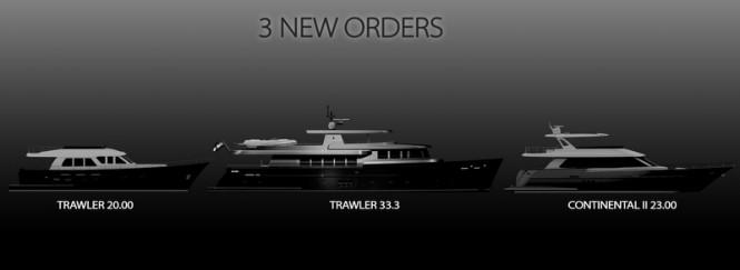 Three new yacht orders for Wim van der Valk