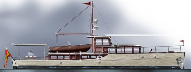 65' Commuter luxury yacht design