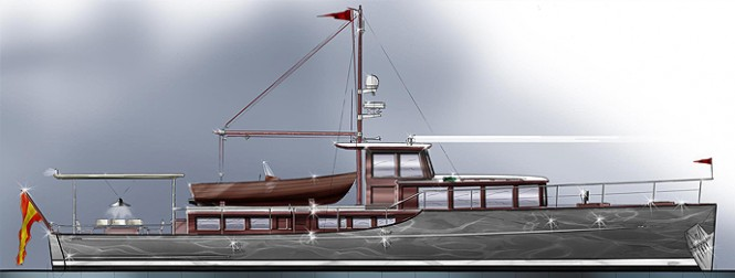 65' Commuter yacht design by Barracuda Yacht Design