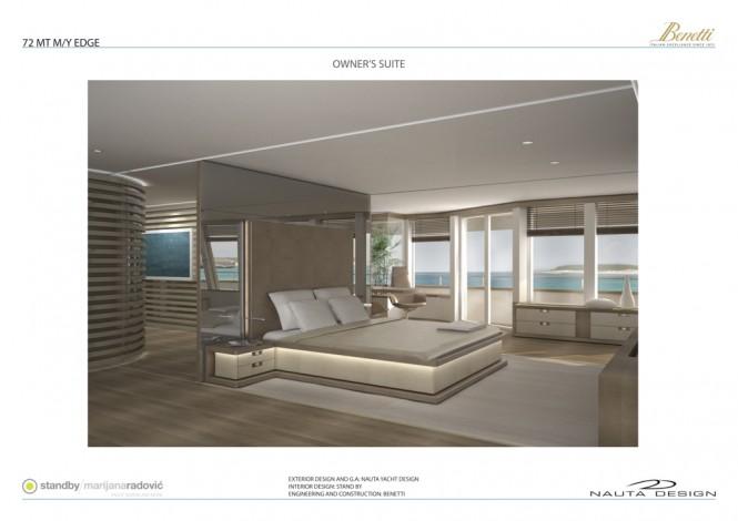 72m Benetti Nauta luxury mega yacht EDGE 72 - Owner's Stateroom