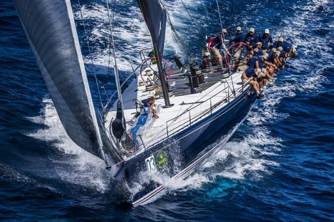 Bella Mente Yacht starring at the Maxi Yacht Rolex Cup