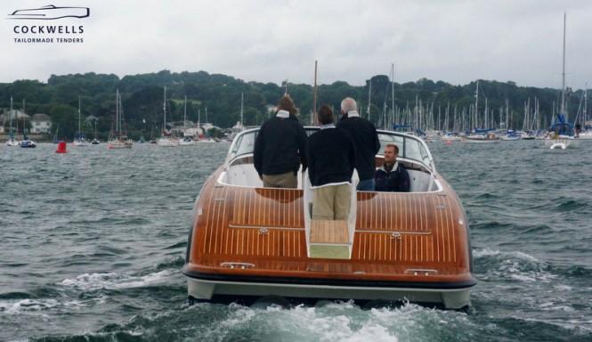Cockwells 9.5m TT Grace E Superyacht - aft view