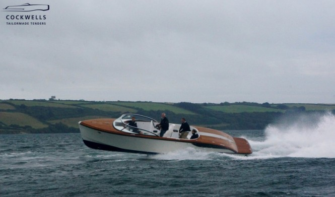 Cockwells 9.5m Yacht Tender to the 73m Vitruvius Yacht GRACE E during sea trials