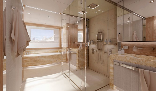 Columbus 40m Sport Hybrid Yacht - Owners Bathroom