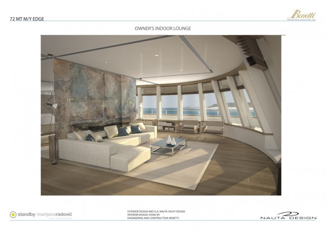 EDGE 72 superyacht - Owner's Indoor Lounge