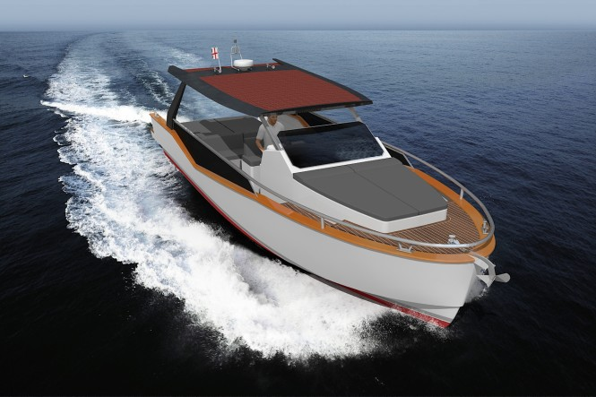 LUXI33 superyacht tender at full speed