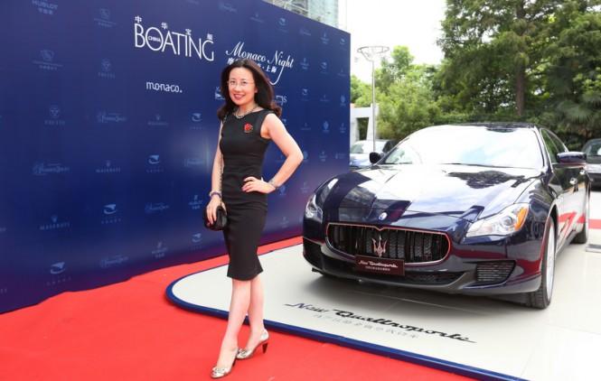 Latest Maserati models on display at the Monaco Night 2013