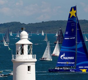 Line honours for Esimit Europa 2 Yacht at Rolex Fastnet Race 2013