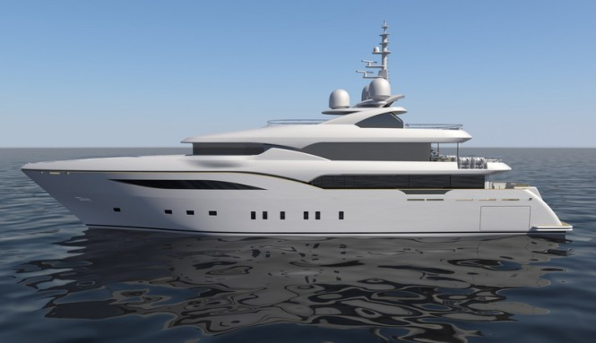 Luxury yacht Alfulk - side view