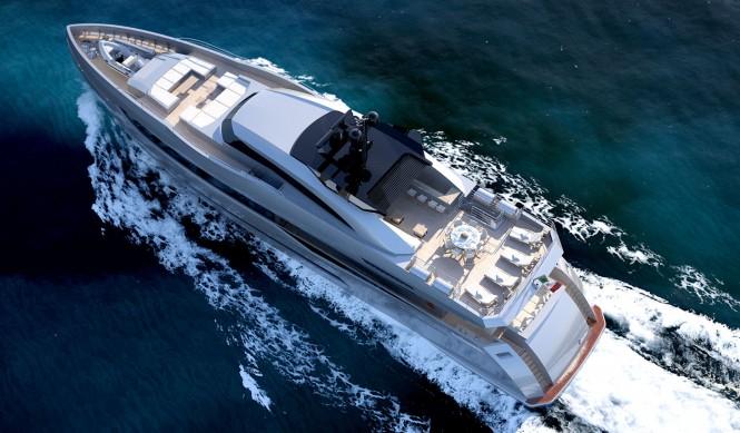 Luxury yacht Columbus 40m Sport Hybrid - upview