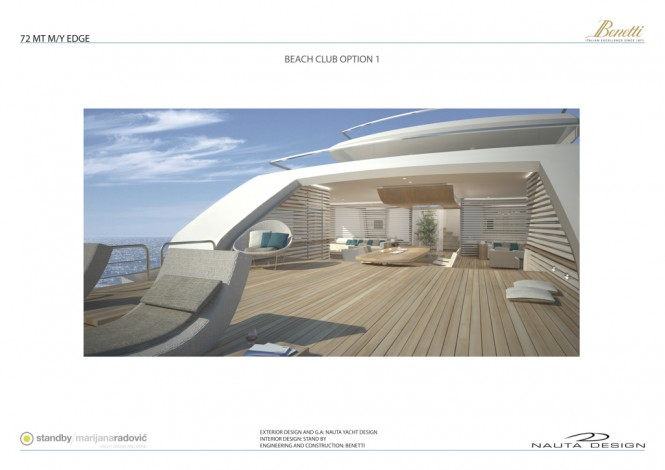 Mega yacht EDGE 72 by Nauta Yachts for Benetti Yachts