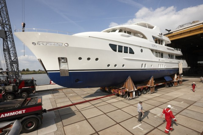 Moonen Yacht Sofia at launch