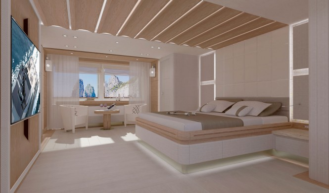 Motor yacht Columbus 40m Sport Hybrid - Owners Cabin
