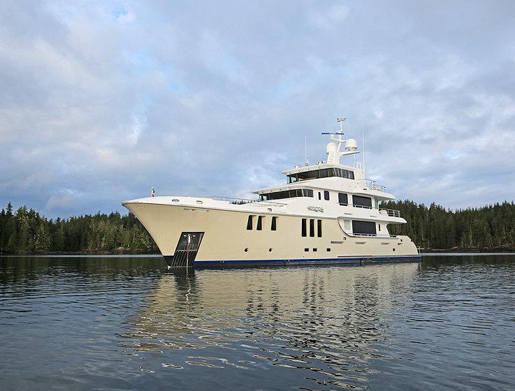 Superyacht Vancouver Island