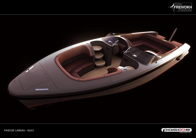 Rendering of Pascoe Landau yacht tender