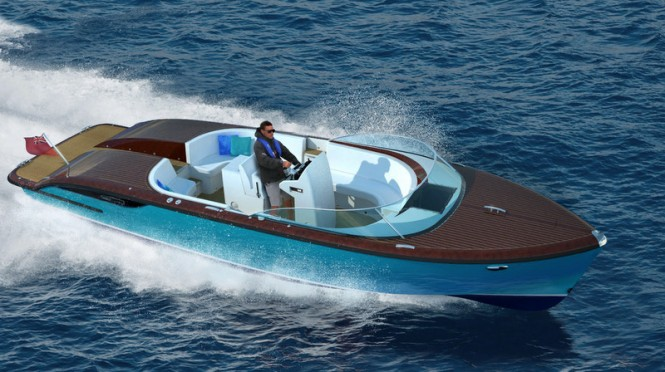 Rendering of the second Cockwells 9.5m Yacht Tender on display at the upcoming MYS 2013