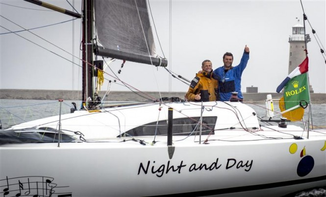 Sailing yacht Night and Day Overall Winner of the 2013 Rolex Fastnet Race