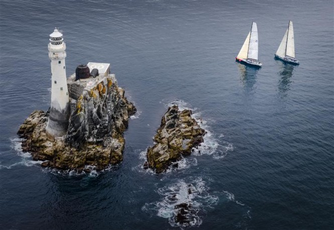 Searching for wind on approach to the fastnet rock - Photo by Rolex Kurt Arrigo
