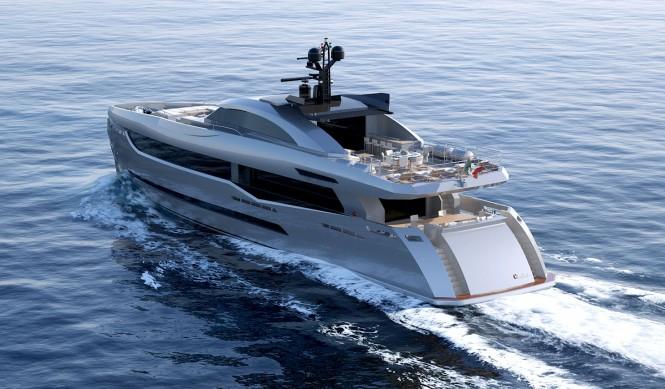 Superyacht Columbus 40m Sport Hybrid - aft view