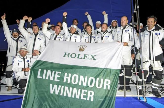 Superyacht Esimit Europa 2, Monohull Line Honours Winner 2013 Rolex Fastnet Race