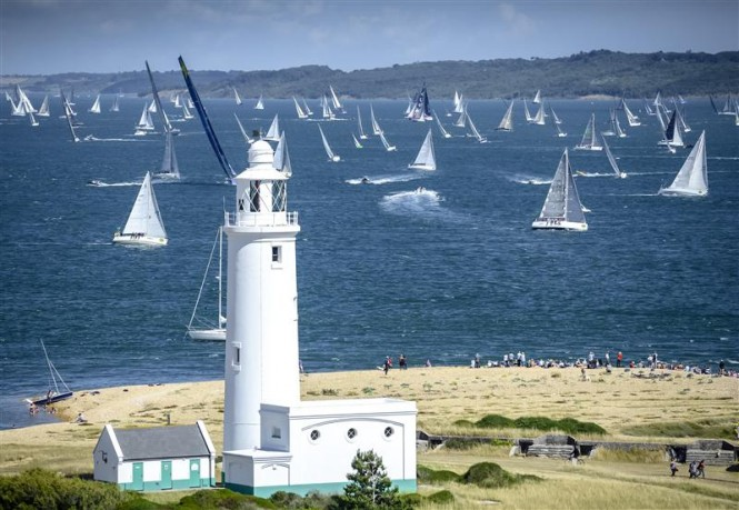 The Rolex Fastnet Race fleet in the spectacular UK yacht charter destination - the Solent - Photo by Rolex Kurt Arrigo