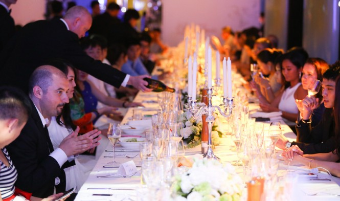 The prestigious cocktail and gala dinner