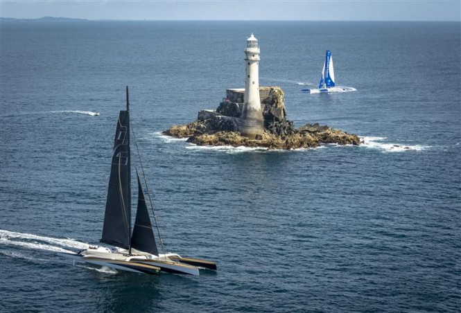 Trimarans at the 2013 Rolex Fastnet Race