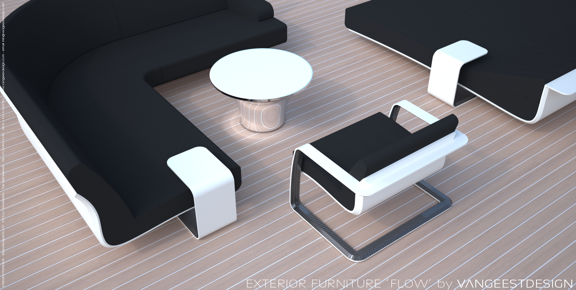 Superyacht outdoor furniture by van geest design yacht charter superyacht news