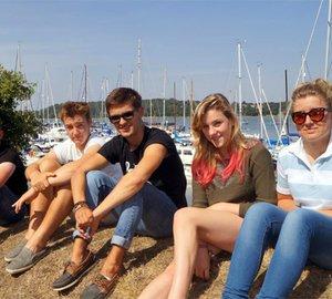Winners of MDL Sail Training Awards 2013 enjoying trip aboard JOHN LAING Yacht