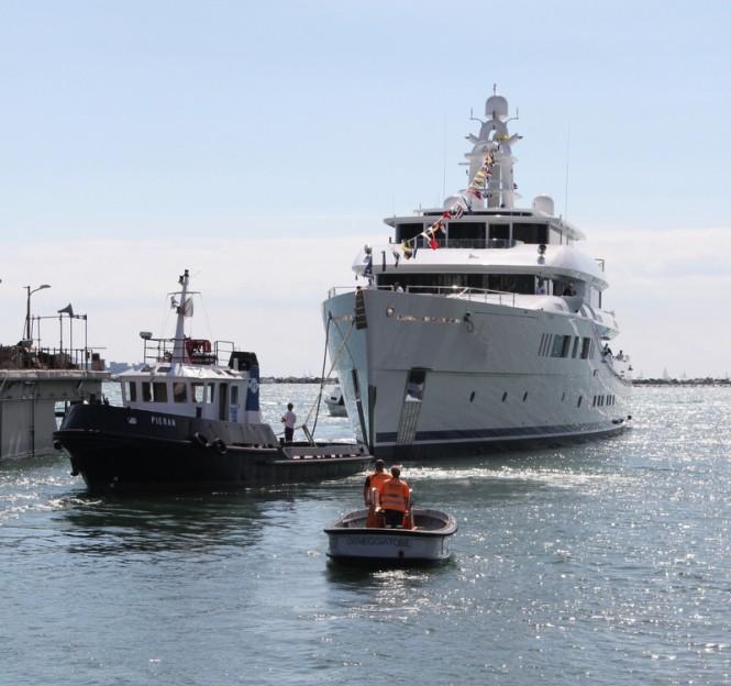 73m Pichiotti superyacht Grace E launched by Perini Navi Group