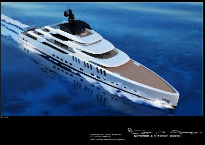 91m Beach mega yacht concept by Cor D Rover