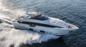 Ferretti 960 Yacht at full speed - Photo by Alberto Cocchi