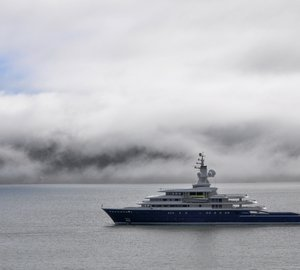 Photo of impressive 115m expedition yacht LUNA cruising in San Francisco Bay