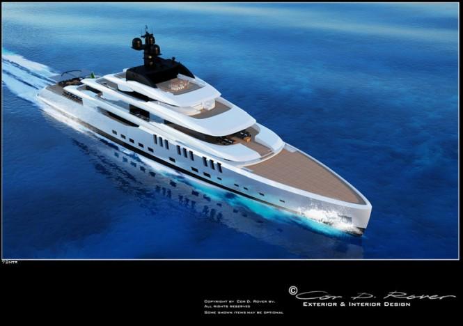 72m Beach mega yacht concept by Cor D Rover