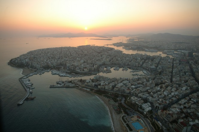 Aerial view of Zea Marina