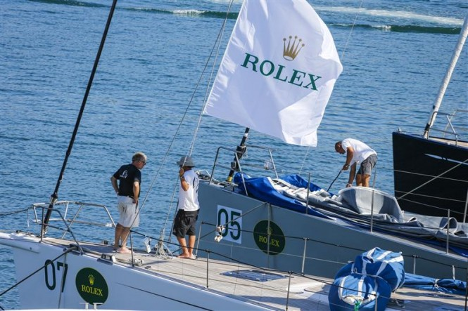 Dockside preparations at the Yacht Club Costa Smeralda - Photo by Rolex Carlo Borlenghi