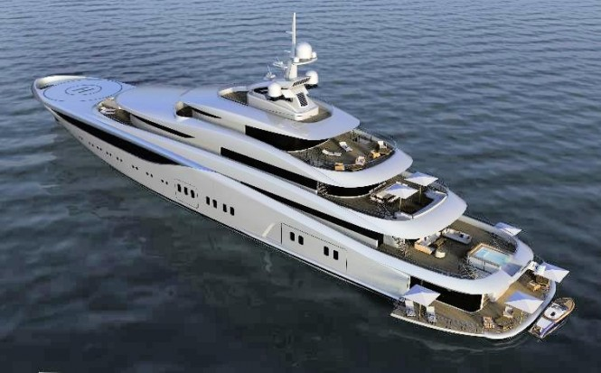 Dorries' plus 80m platform based on the engineering of the 85m mega yacht Graceful