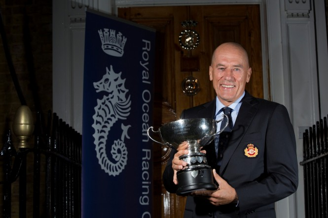 Igor Simcic with the Rolex Fastnet Race Trophy