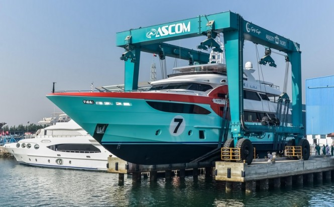 Launch of luxury yacht Sehamia