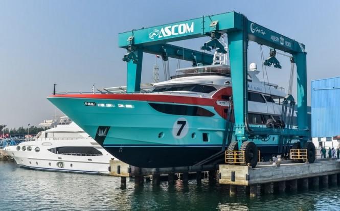 Launch of luxury yacht Sehamia