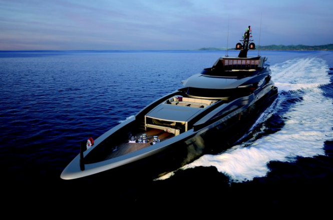 Luxury motor yacht M60 - front view