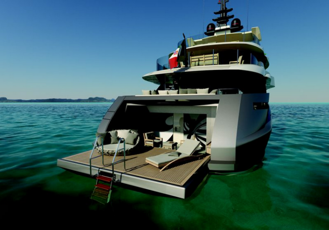 Luxury superyacht Project M50 S by Mondo Marine and Luca Dini Design
