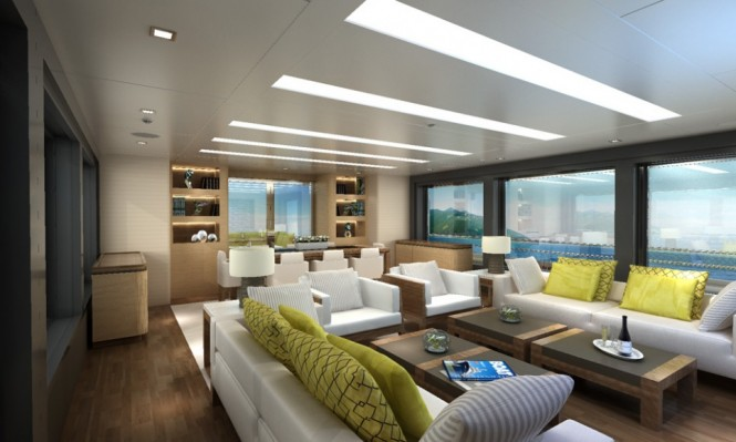 Luxury yacht Discovery 88 project - Interior
