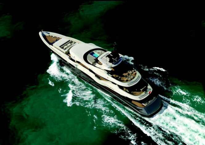 Luxury yacht M50 S - view from above