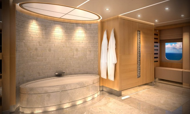 Luxury yacht Majesty 155 - Owner's En Suite