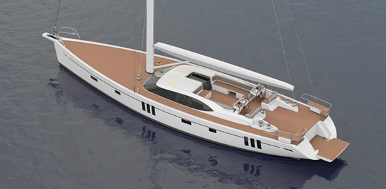 Luxury yacht Oyster 745